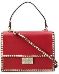 Valentino - Garavani Rockstud Top Handle Bag - Lyst