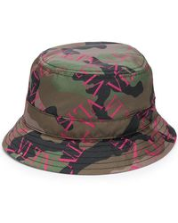 3d5aac5303751 Valentino Camouflage Baseball Cap in Green - Lyst