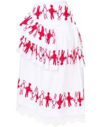 Simone Rocha - Trimmed Double Frill Skirt - Lyst
