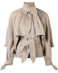 Zimmermann - Plaid Tie Detail Jacket - Lyst