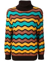 M Missoni - Loose-fitted Wave Turtleneck - Lyst