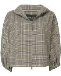 Fabiana Filippi - Checked Cropped Sleeves Jacket - Lyst