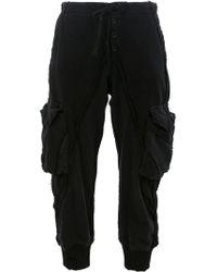 "Greg Lauren - ""black Knit/fleece Lounge Pant"" - Lyst"