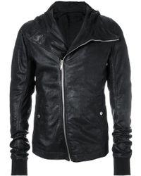 Rick Owens - Hooded Biker Jacket - Lyst