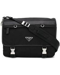 Prada - Logo Plaque Laptop Bag - Lyst