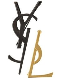 Saint Laurent - Deconstructed Monogram Brooch - Lyst