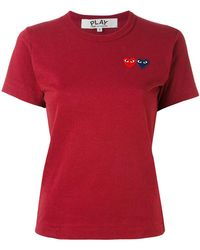 Play Comme des Garçons - Heart Patch T-shirt - Lyst