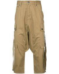 Mostly Heard Rarely Seen - Cropped Harem Cargo Trousers - Lyst