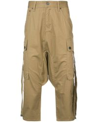 Mostly Heard Rarely Seen - Cropped Harem Cargo Pants - Lyst