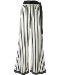Jean Paul Gaultier - Striped Palazzo Trousers - Lyst