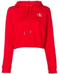 Calvin Klein - Sudadera con capucha y logo bordado - Lyst