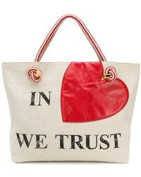 Moschino - Printed Tote Bag - Lyst