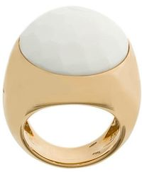Pomellato - 18kt Rose Gold Victoria Cacholong Ring - Lyst