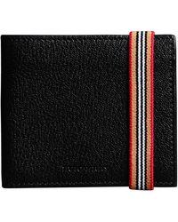 Burberry - Heritage Stripe Leather International Bifold Wallet - Lyst