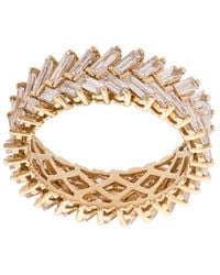 Anita Ko - 18kt Yellow Gold Diamond Baguette Double Row Ring - Lyst