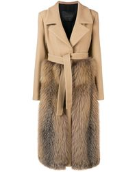 Blancha Belted Double-breasted Coat - Natural
