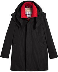 Burberry | Taffeta Coat With Detachable Hood And Gilet | Lyst