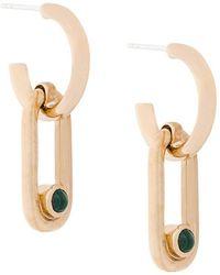 Pamela Love - Beaumont Malachite Earrings - Lyst