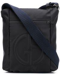 Lyst - Ferragamo Gancio Embossed Messenger Bag in Black for Men 5d7f4aac135ca