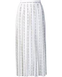 Off-White c/o Virgil Abloh Logo Pinstripe Pleated Skirt