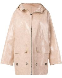 Bottega Veneta - Brushed Calf Leather Coat - Lyst