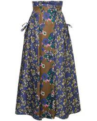 Teija - Floral Panel Skirt - Lyst