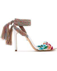Schutz - Self-tie Tassel Sandals - Lyst