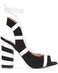 Boutique Moschino - Striped Sandals - Lyst