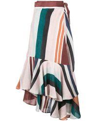 Apiece Apart - Asymmetrical Ruffle Skirt - Lyst
