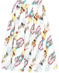 Ultrachic - Totem Print Midi Skirt - Lyst