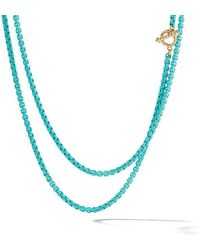 David Yurman - 14kt Yellow Gold And Coloured Steel Dy Bel Aire Collection Necklace - Lyst