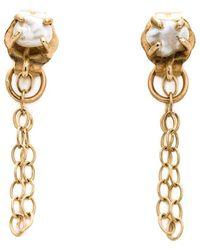 Melissa Joy Manning | 14kt Gold Pearl Chain Earrings | Lyst