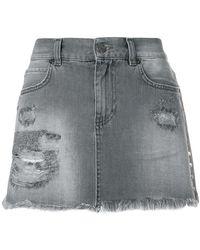 Gaëlle Bonheur - Ripped Mini Denim Skirt - Lyst