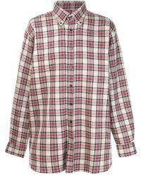 Raf Simons - Tartan Slightly Oversized Shirt - Lyst