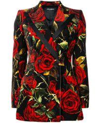Dolce & Gabbana - Floral Print Jacket - Lyst
