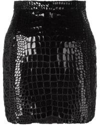 Saint Laurent - Scale Effect 80's Mini Skirt - Lyst