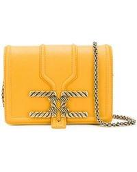 Elisabetta Franchi - Square Shaped Crossbody Bag - Lyst