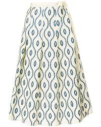 Marni - Embroidered Full Skirt - Lyst