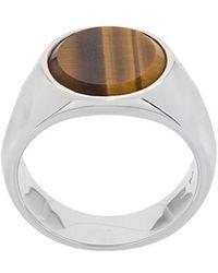 Tom Wood - Small Oval Tige Eye Ring - Lyst