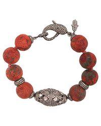 Loree Rodkin - Oversized Bead Clasp Bracelet - Lyst