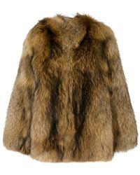 Numerootto - Fur Detail Coat - Lyst