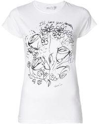 Richard Quinn - Floral Print Short-sleeve T-shirt - Lyst
