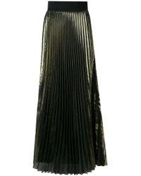 Galvan London - High-waisted Pleated Maxi Skirt - Lyst