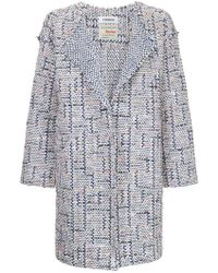 Coohem Spring Air Tweed Coat - Gray