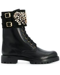 Rene Caovilla - Embellished Cargo Boots - Lyst