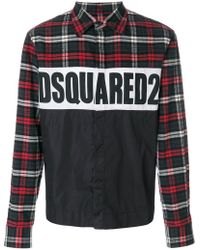 DSquared² - Logo Checked Shirt - Lyst