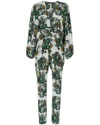 Andrea Marques - Wide Sleeves Printed Jumpsuit - Lyst
