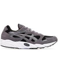 Asics - Grey, Black And White Gel Diablo Sneakers - Lyst