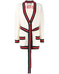 Gucci   Oversized Embroidered Cardigan   Lyst