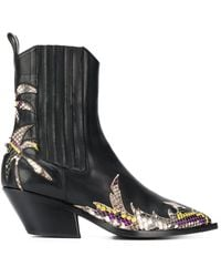 A.F.Vandevorst - Contrast Ankle Boots - Lyst
